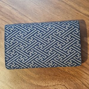 Navy Blue Leather Japanese Wallet